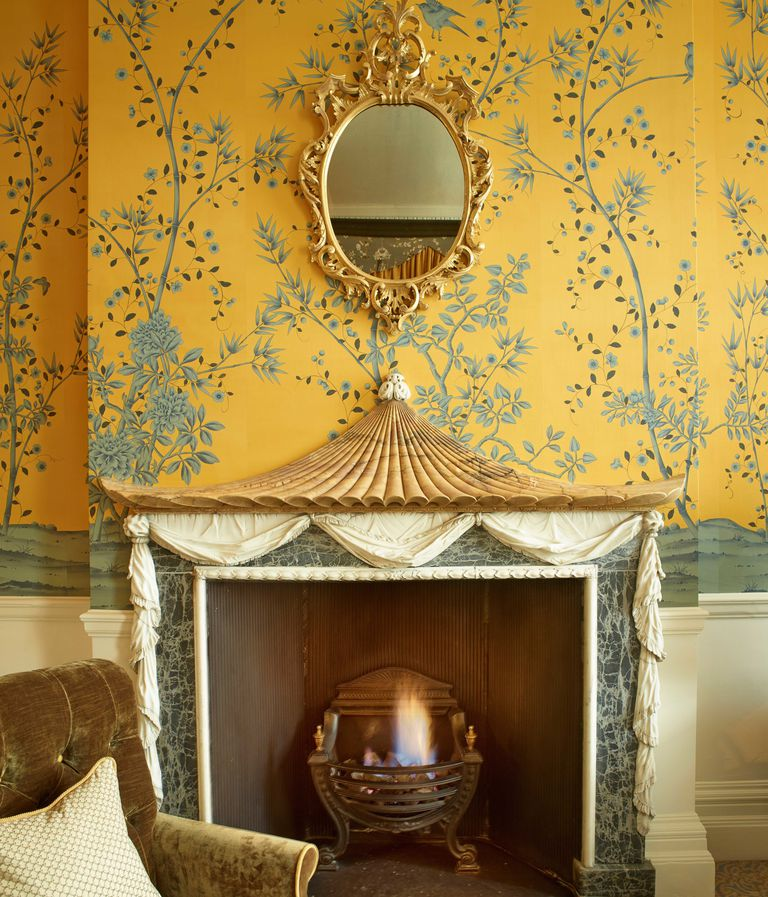 Cliveden House England Hotel Yellow Chinoiserie Wallpaper