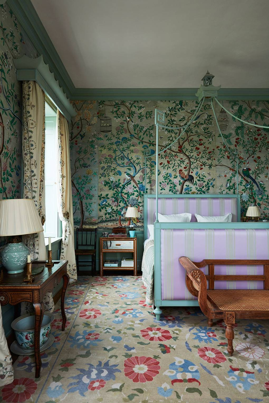 Edward Bulmer Bedroom Canopy Bed Antique Chinese Wallpaper