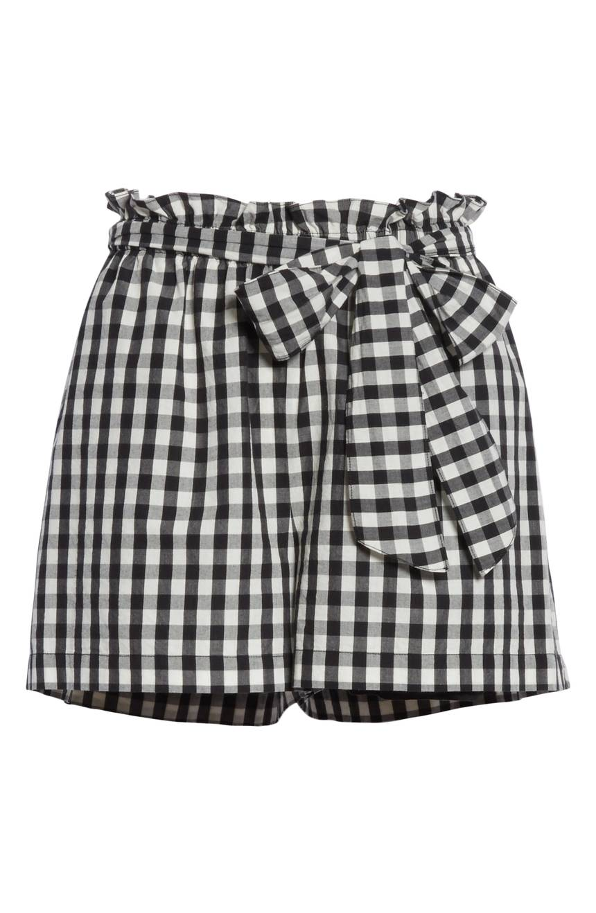 Gingham Bow Shorts