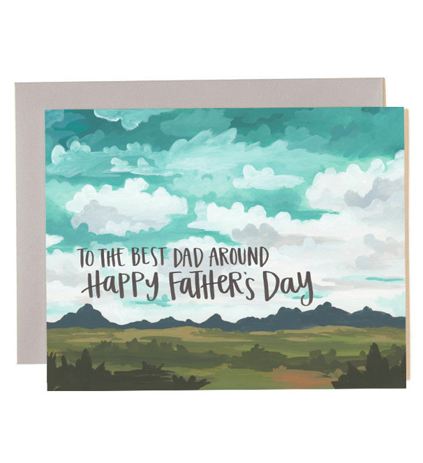 Father's Day Greeting Card Desert Mountains Great Outdoors