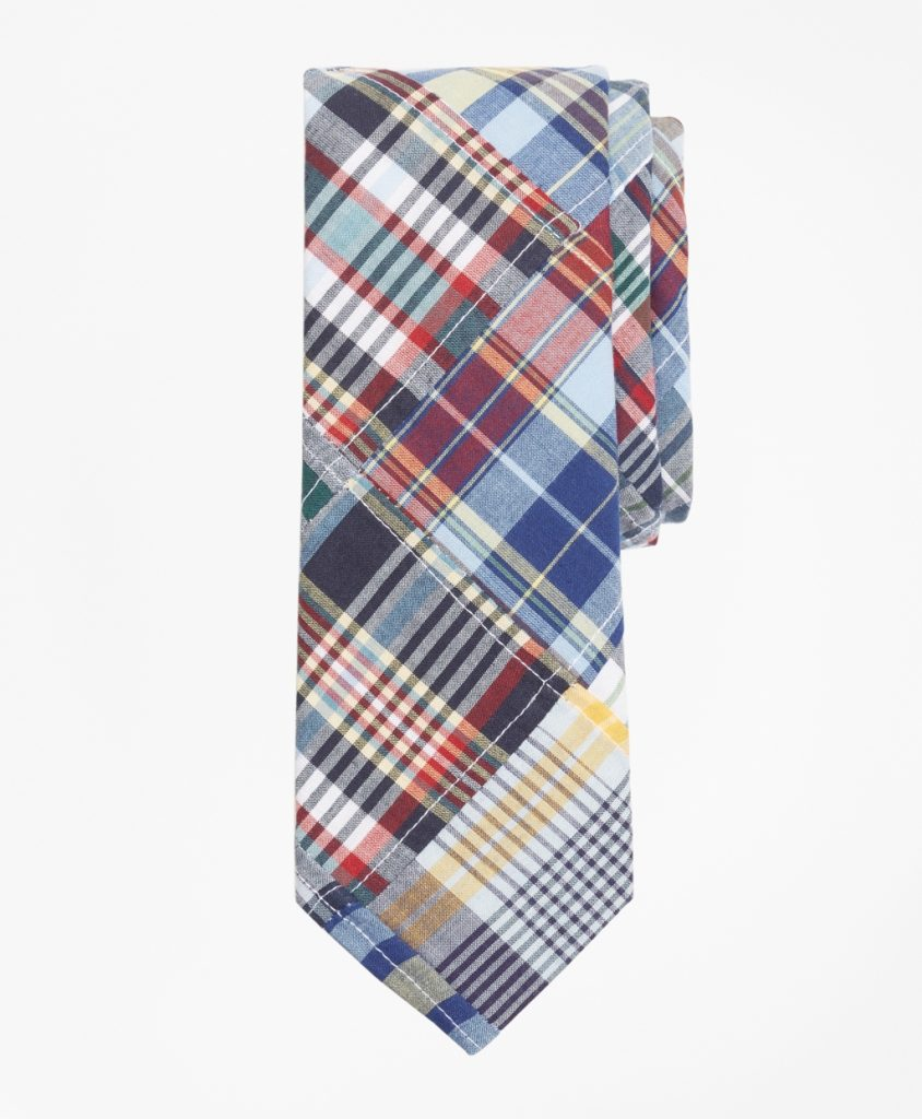 Patchwork Madras Tie Father's Day Gift