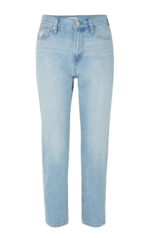 Crop High Rise Blue Jeans Straight Leg Madewell