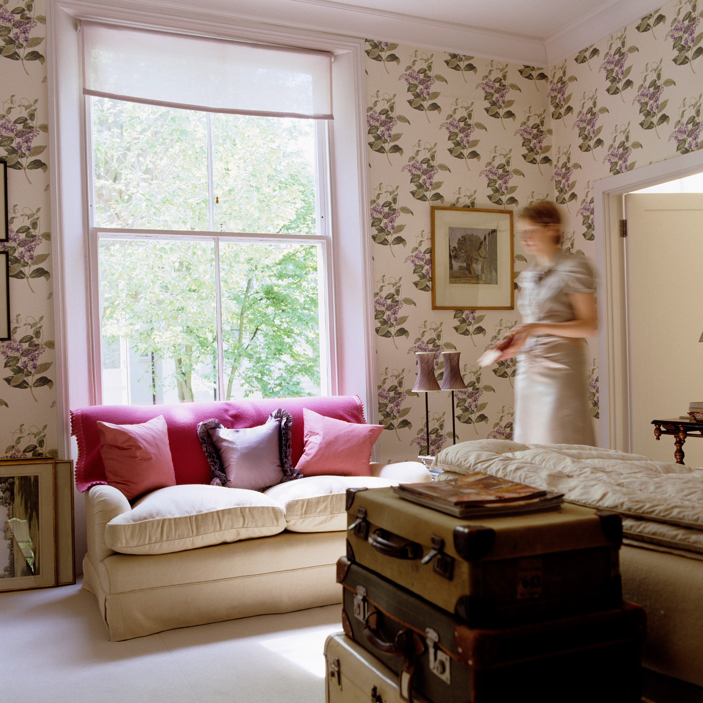 Cole and Son Wallpaper Madras Violet Rita Konig London Bedroom