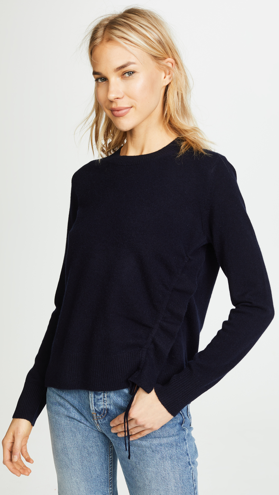 Cashmere Side Cinch Pullover Vince Sweater