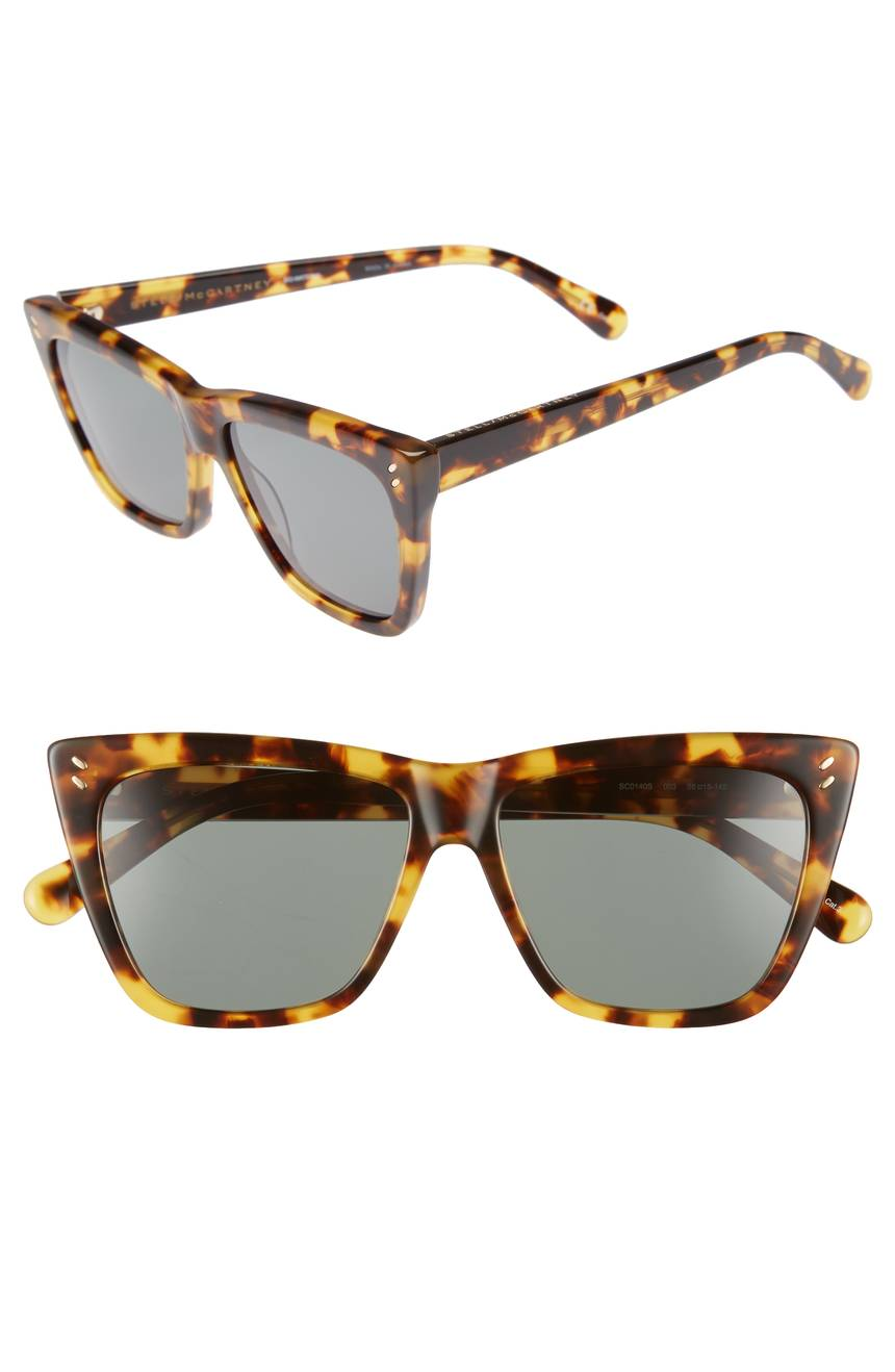 Tortoiseshell Polarized Sunglasses Stella McCartney