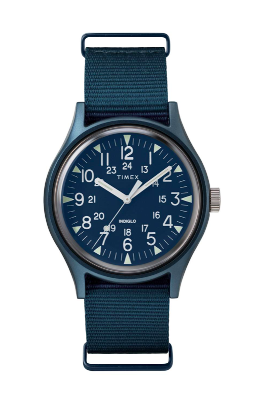 Navy Men's Timex Watch Nylon Strap Father's Day Gifts