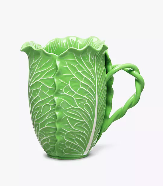 Green Lettuce Ware Pitcher Dodie Thayer for Tory Burch