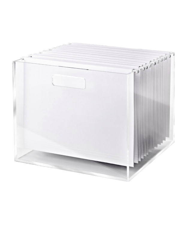 Acrylic File Box Hanging Folders Office