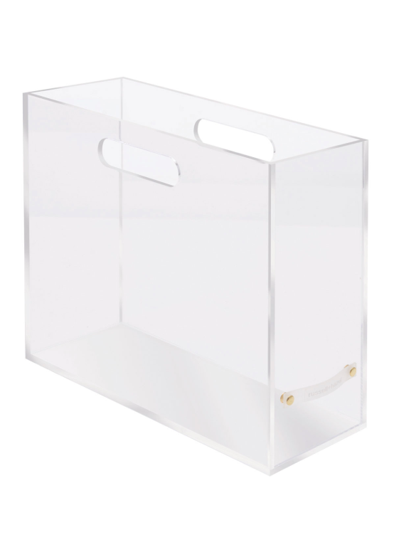 Acrylic Slim File Box Office Supply