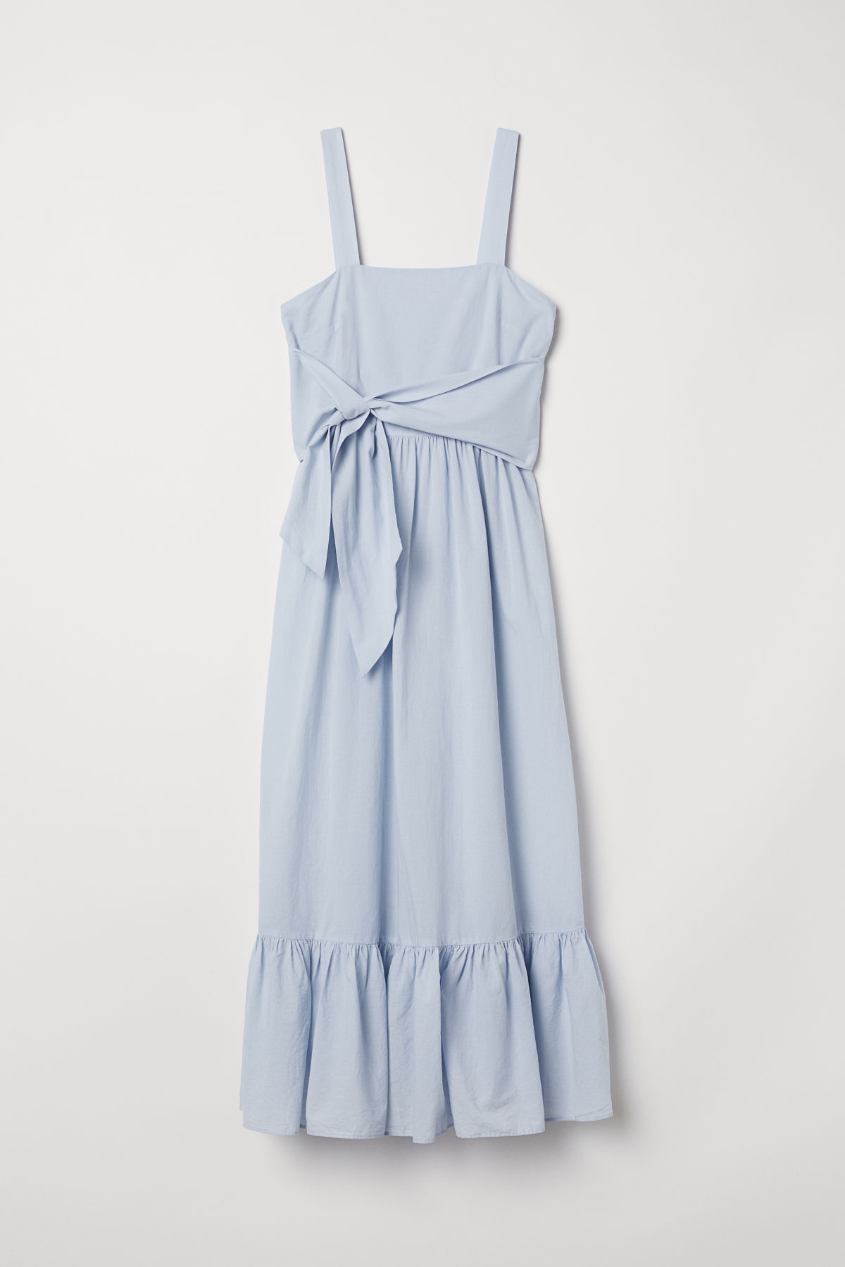 Blue Cotton Maxi Dress