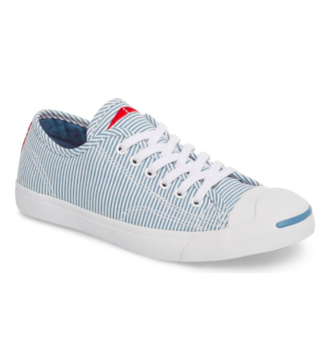 Stripe Low Top Jack Purcell Sneakers Blue and White