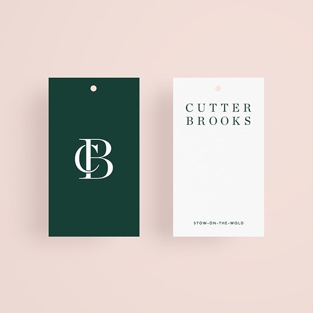 Amanda Brooks' new Cotswolds boutique, Cutter Brooks, in Stow-on-the-Wold, England Branding and Logo Design by Studio Connie