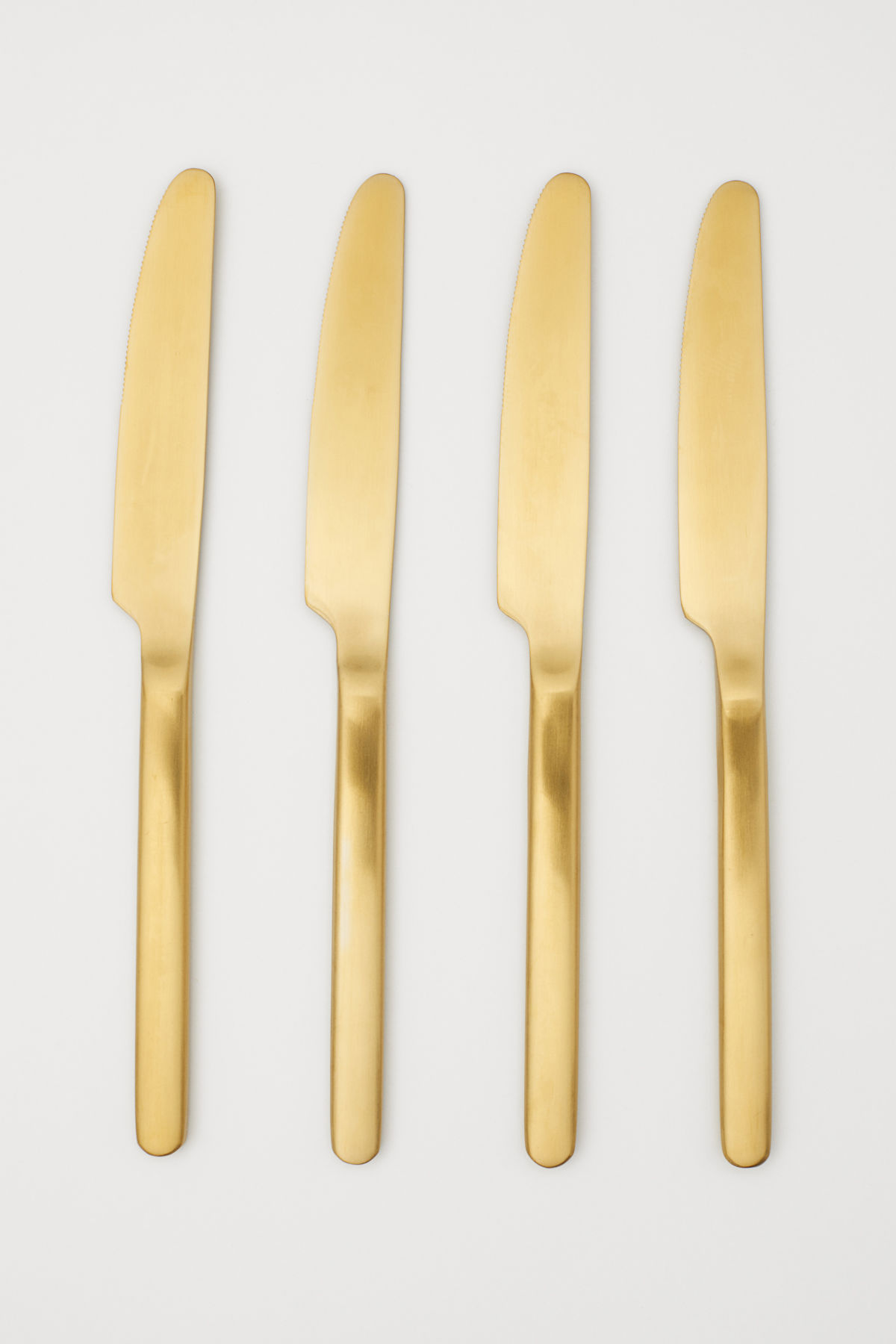 Gold Knives Flatware Set