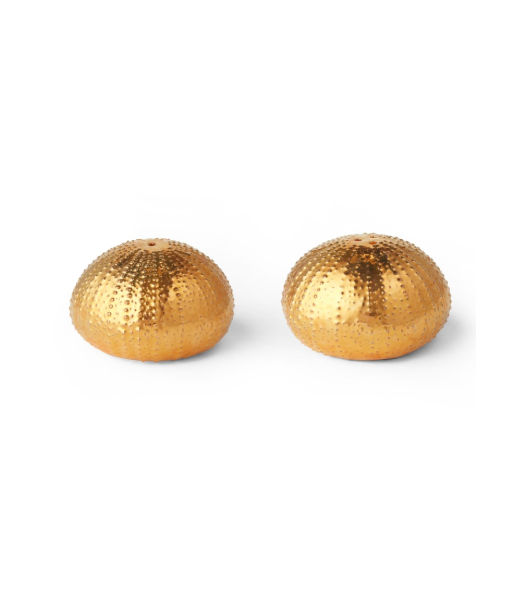Gold Sea Urchin Salt and Pepper Shakers