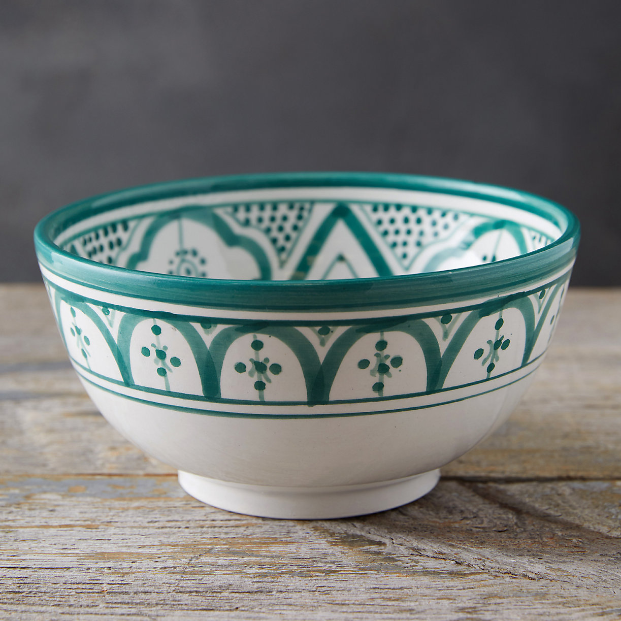 Green Moroccan Earthenware Bowl