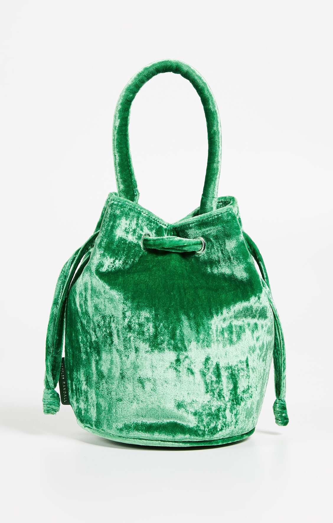 Emerald Green Velvet Bucket Bag