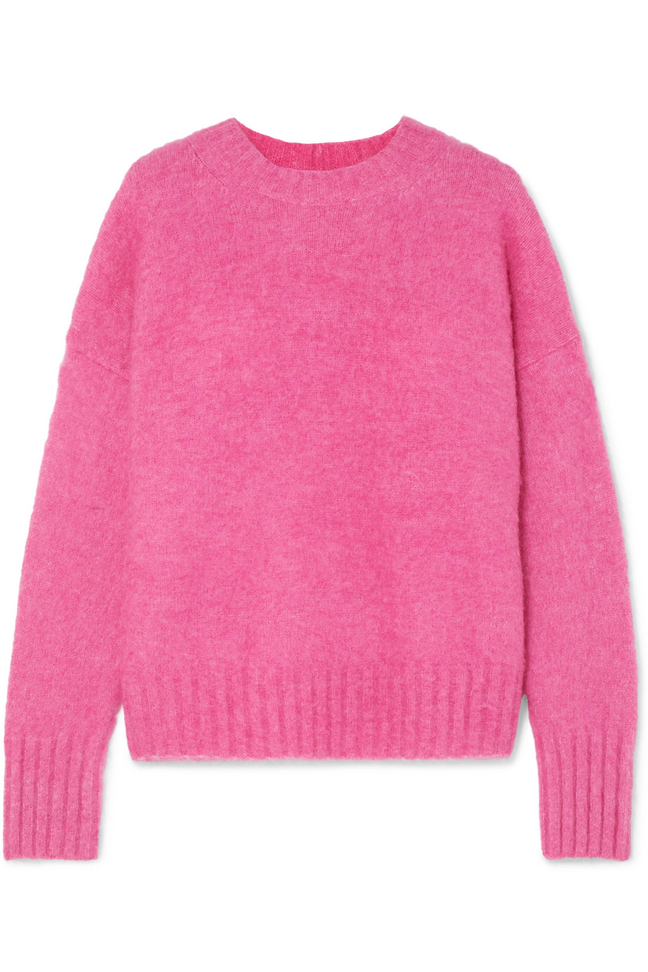 Hot Pink Knitted Alpaca Sweater Helmut Lang