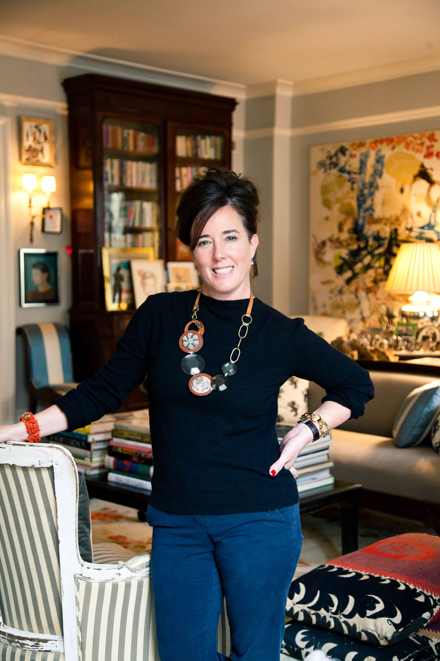 Fashion Designer Kate Spade at Home in New York City
