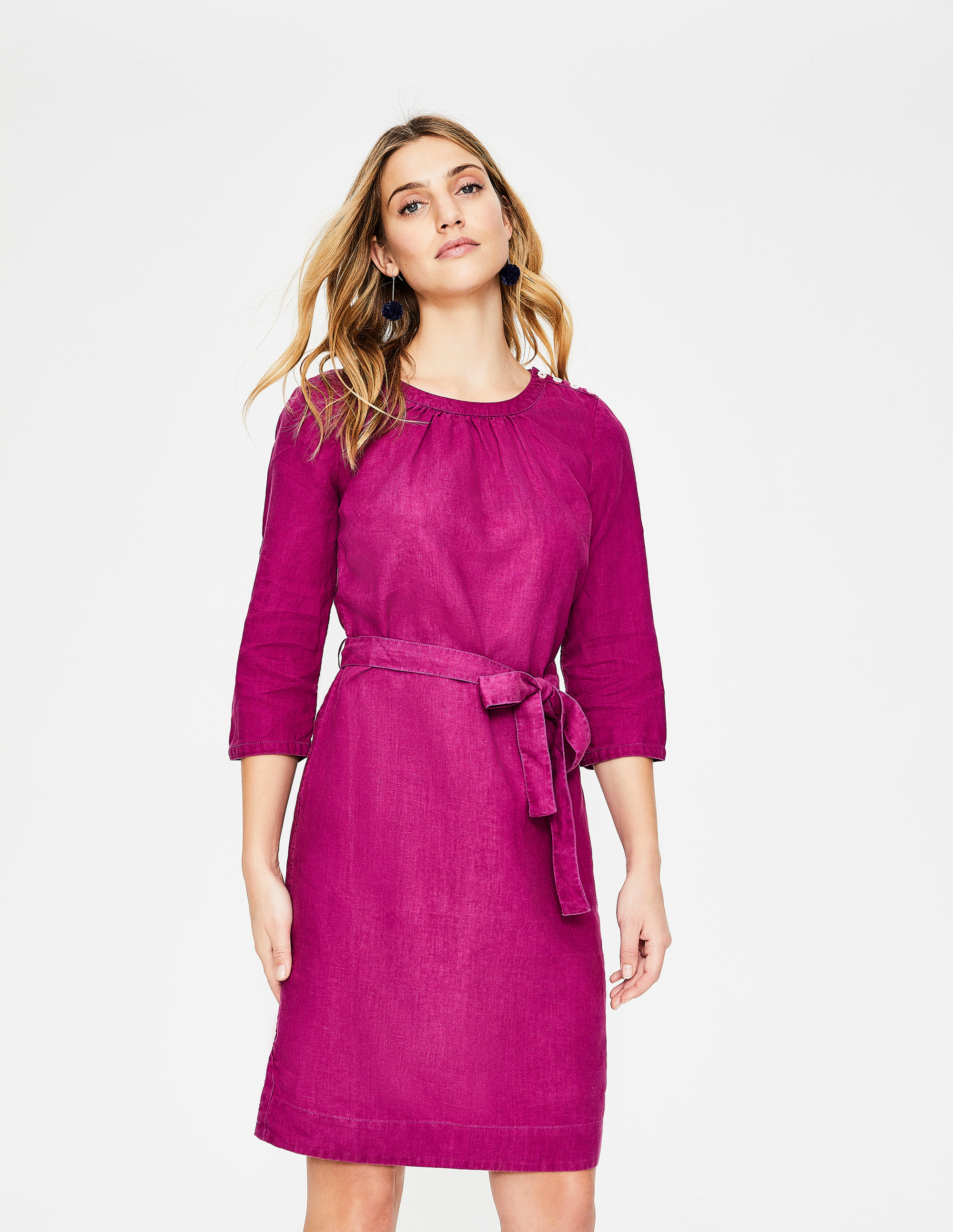 Purple Tie Waist Long Sleeve Katie Dress