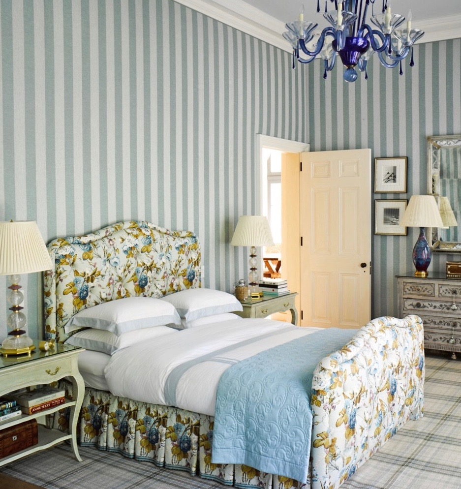 Tartan Bedroom Accessories Bedroom Vintage Decorating Ideas Bedroom Curtains Inspiration Bedroom Furniture Latest Designs: Mary-ann-tighe-southampton-home-bunny-williams-striped