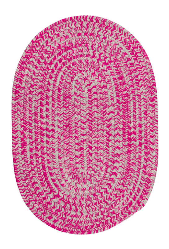 Pink Nantucket Tweed Braided Rug