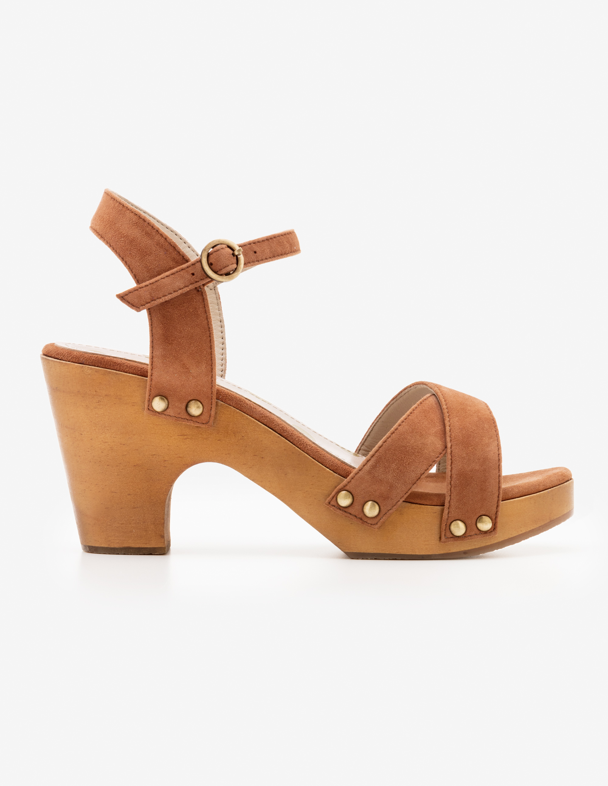 Brown Olivia Clog Sandals