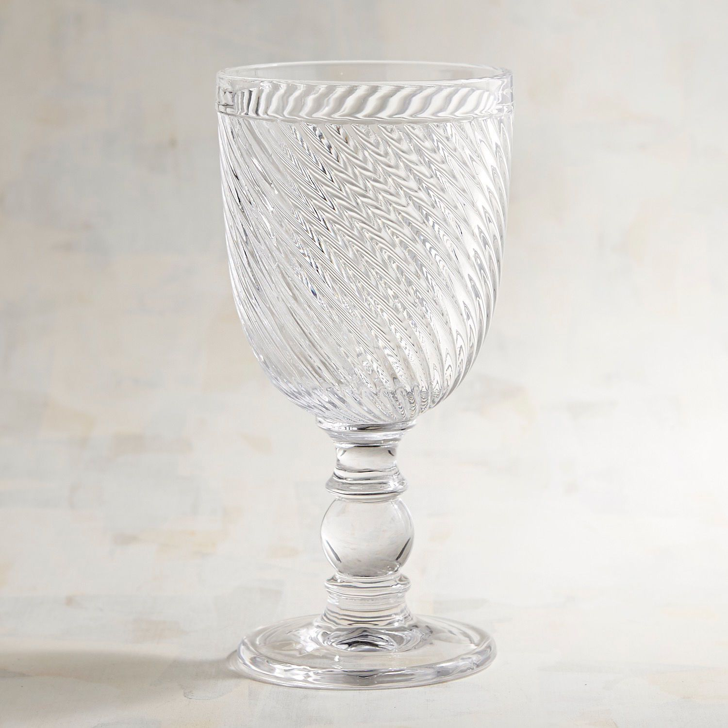 Swirled Glass Wine Goblet