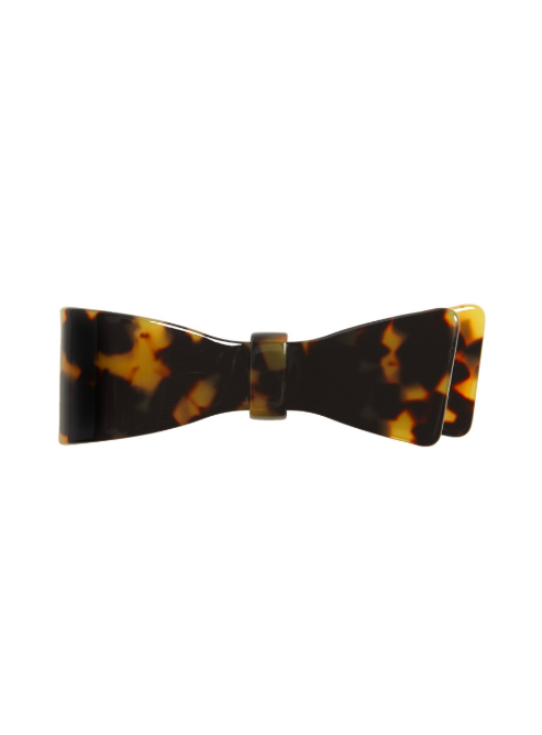 Tortoiseshell Bow Ribbon Barrette Hair Clip
