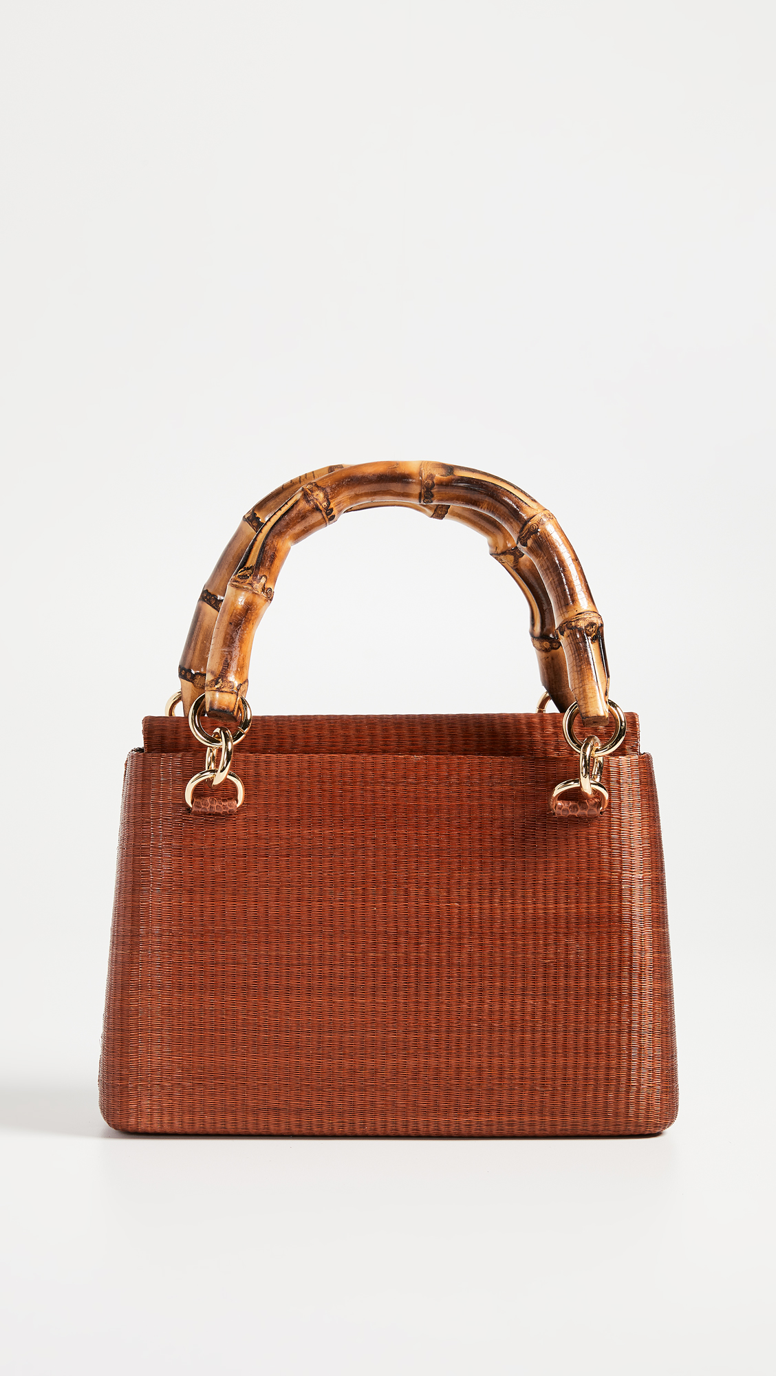 Bamboo Handle Wicker Bag