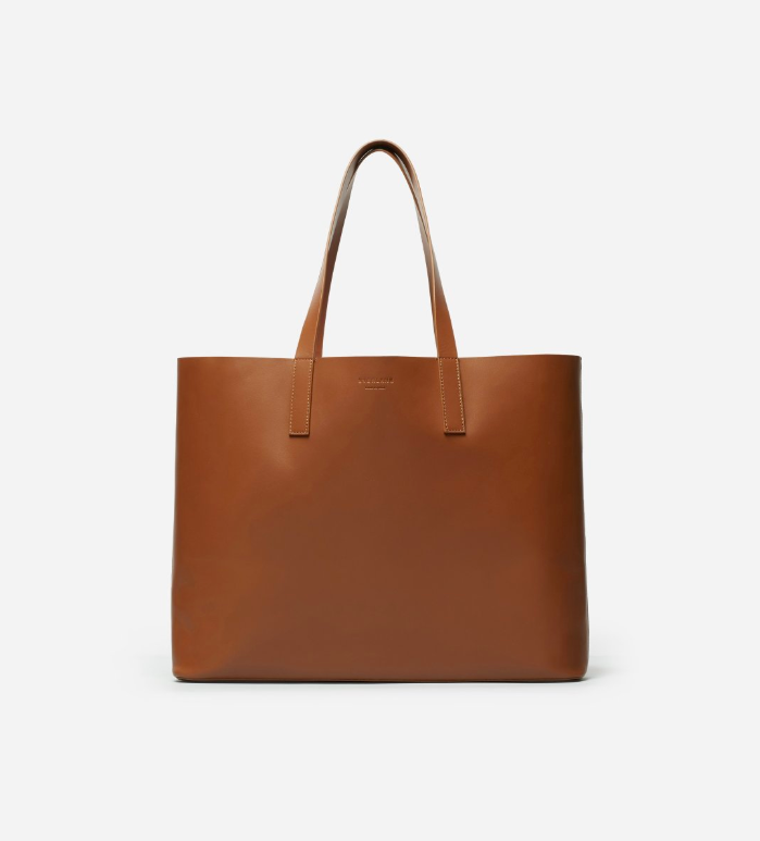 Brown Leather Day Market Tote Bag by Everlane