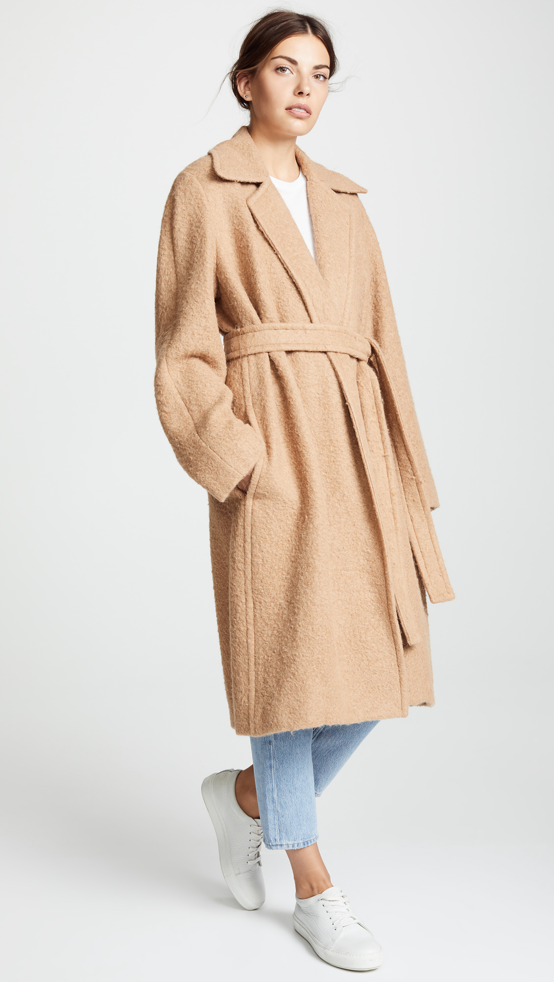 Camel Napped Wool Coat