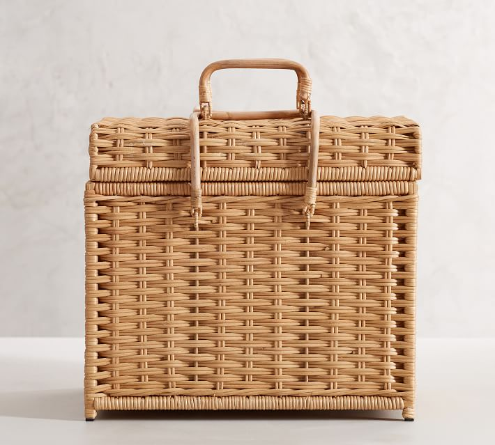 Wicker File Box Sarah Bartholomew for Pottery Barn