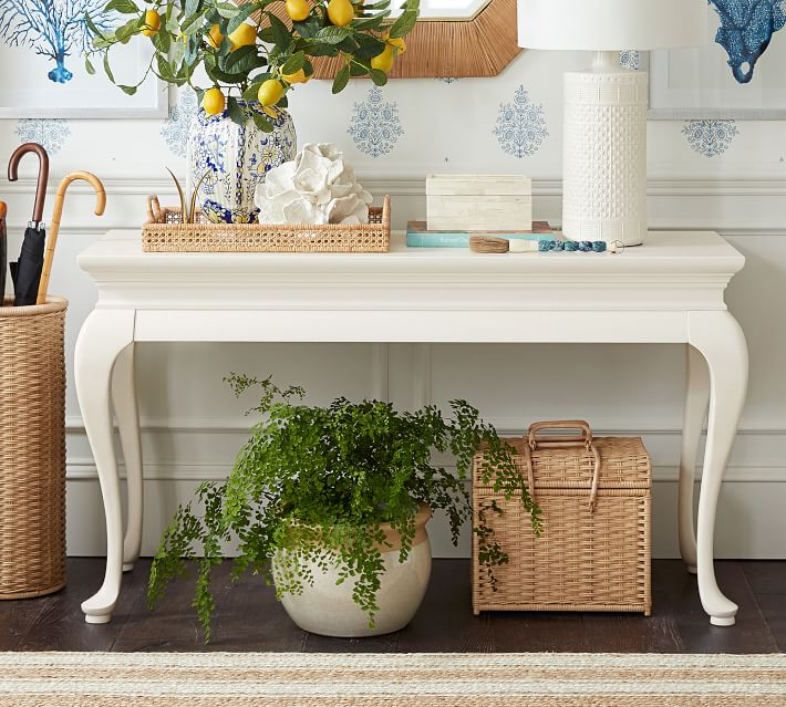 White Queen Anne Console by Sarah Bartholomew for Pottery Barn