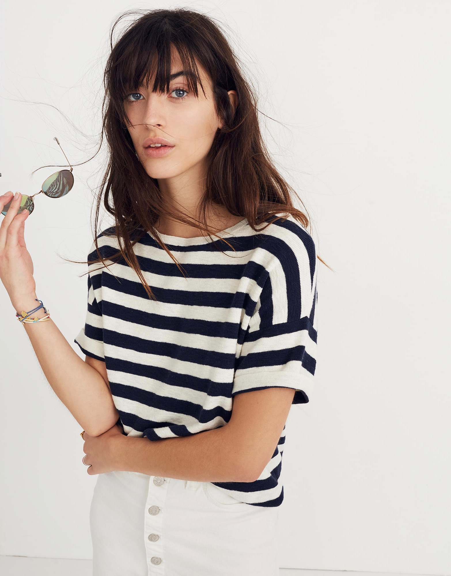 Boxy Stripe Sweater Tee
