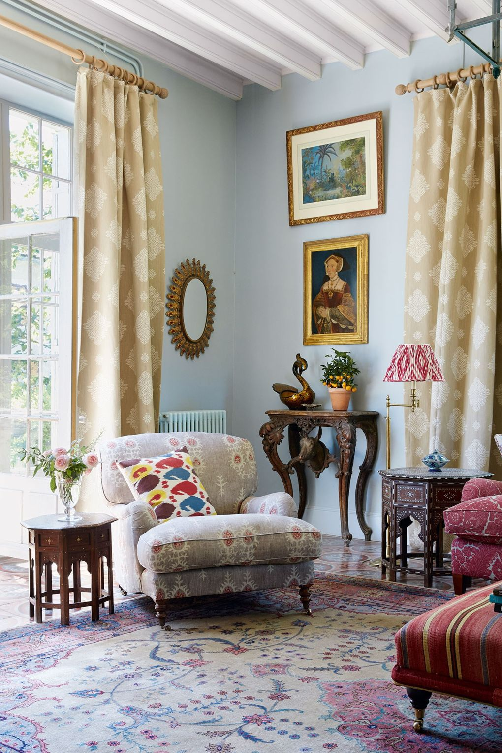 Country Living Rooms: Susan-deliss-textile-dealer-french-country-home-living