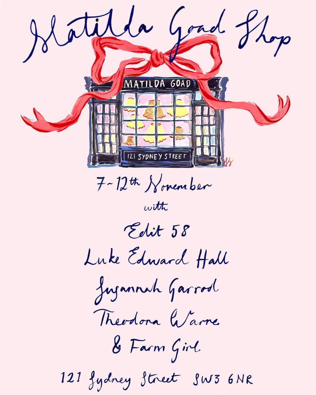 Susannah Garrod Fashion Illustrator Matilda Goad Pop Up Shop