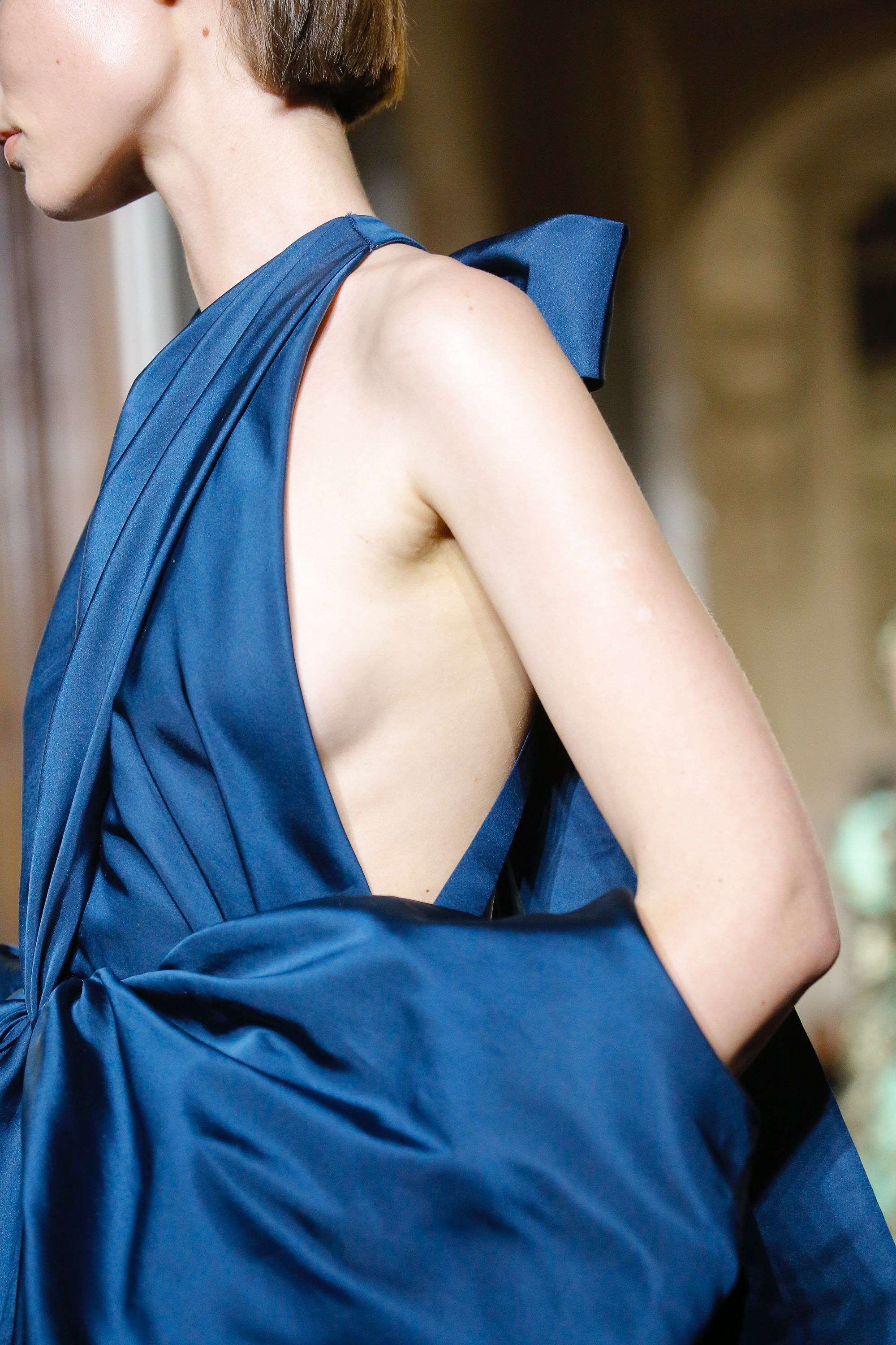 Blue Bow Gown at Valentino Couture Fall 2018