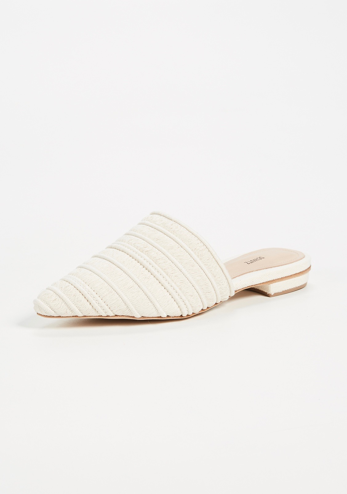 White Point Toe Mules