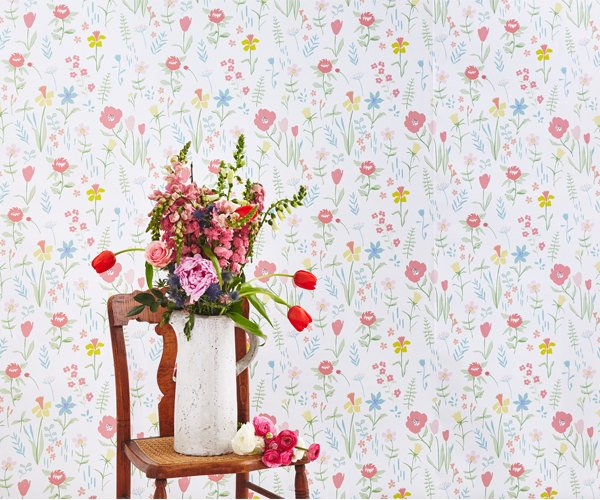 Wildflower Removable Wallpaper Temporary Pink S Room Nursery L Stick