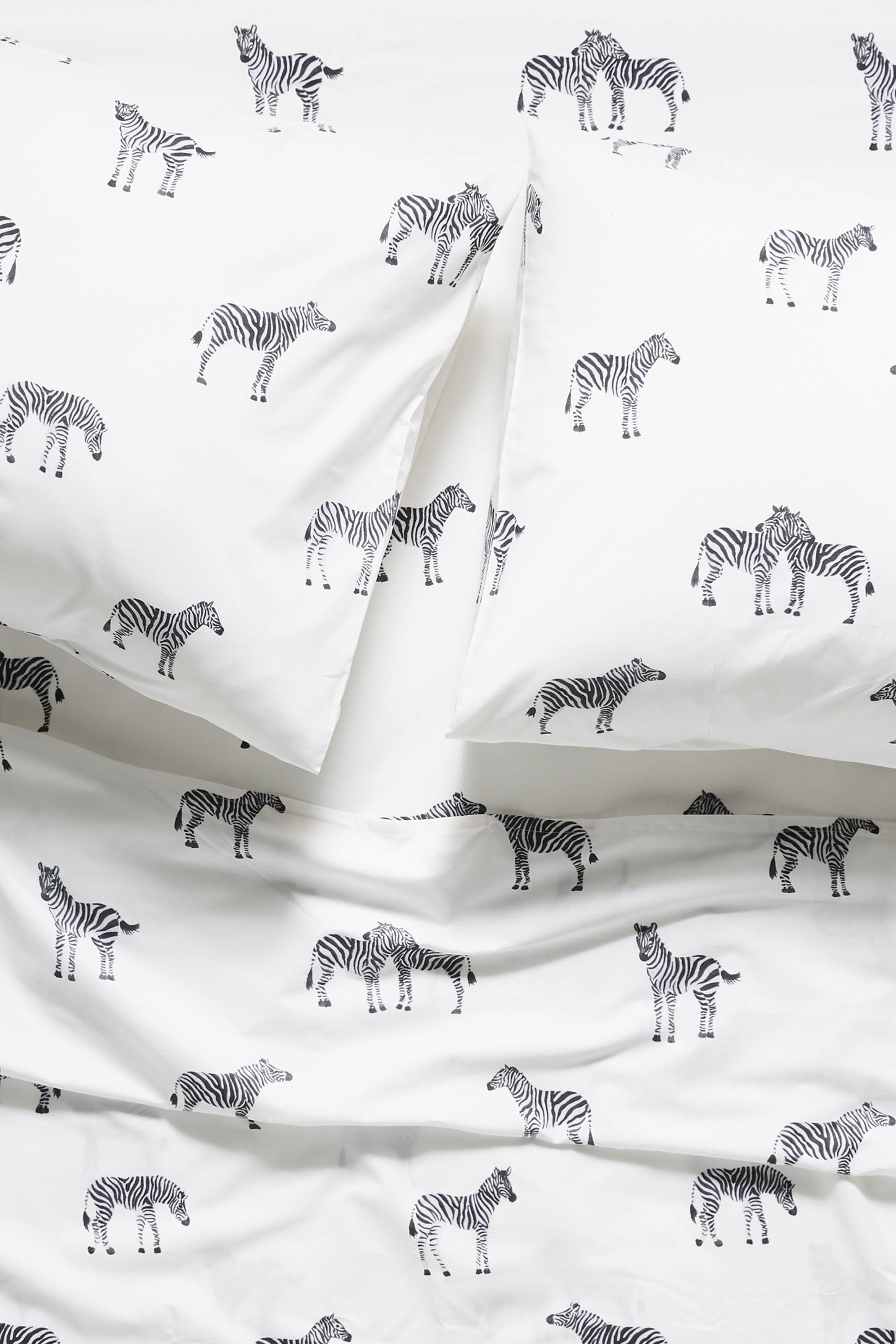 Printed Zebra Sheet Set