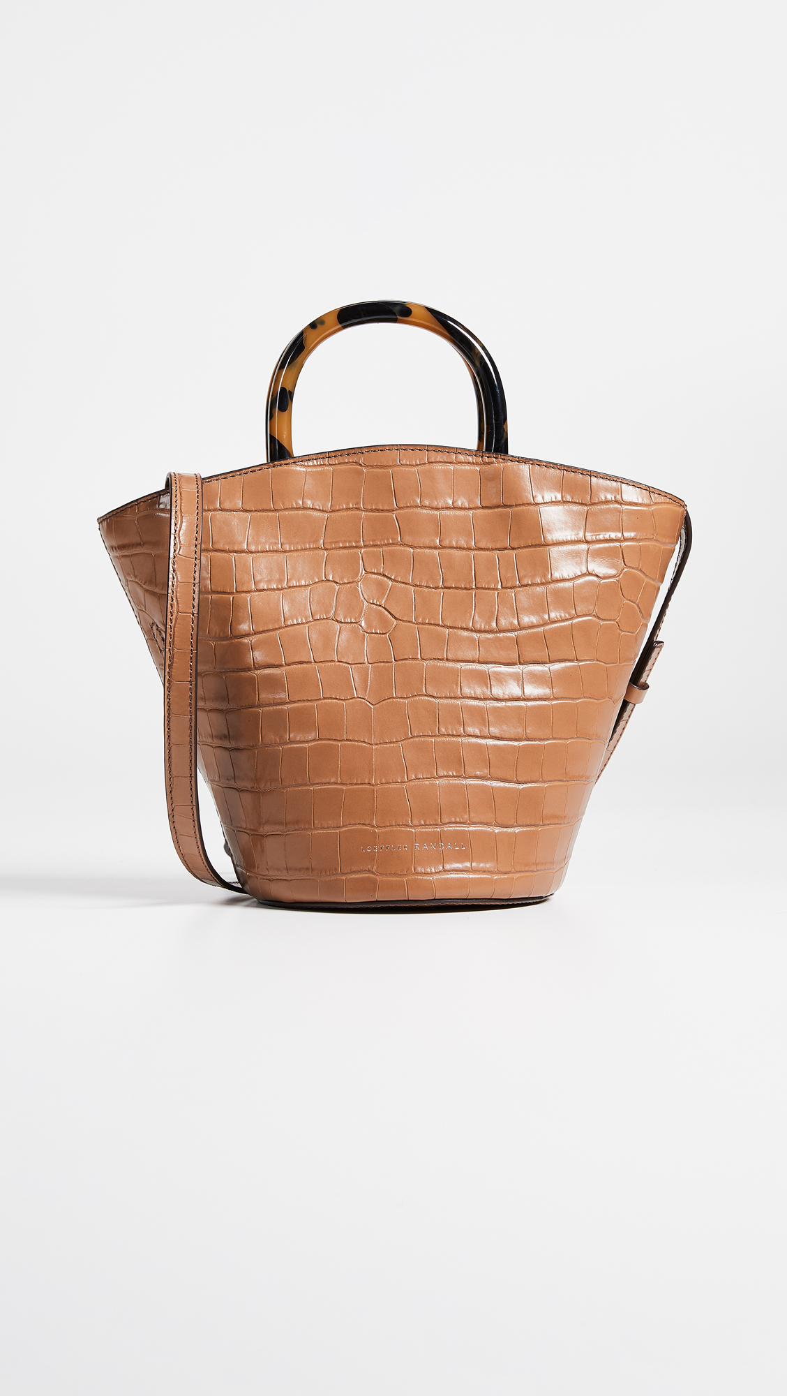 Tortoise Handle Loeffler Randall Camel Leather Bag