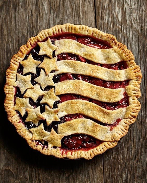 American Flag Fruit Pie
