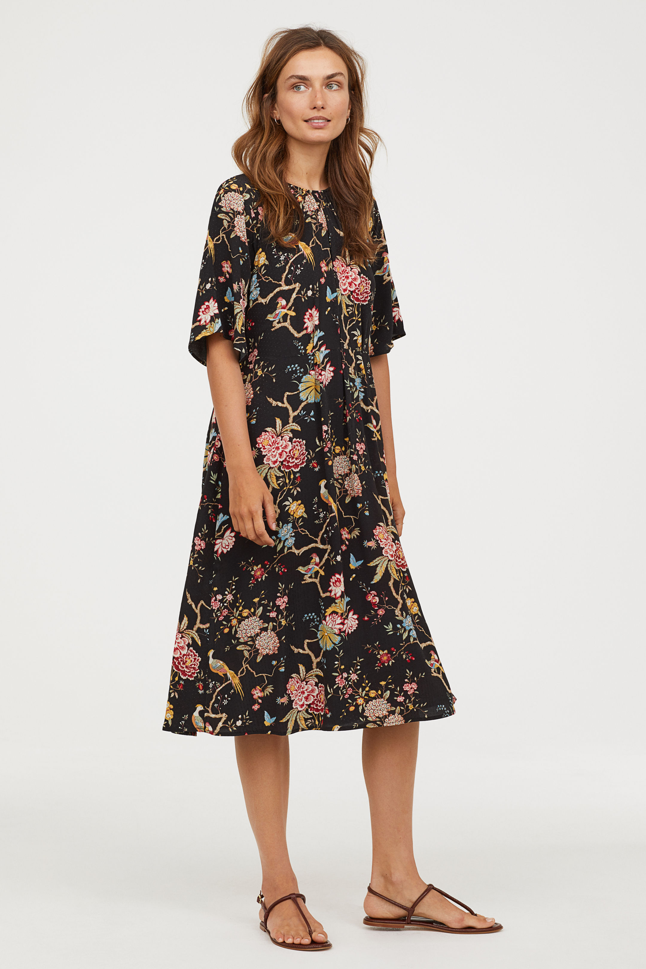 Black Floral Dress GP&J Baker for H&M
