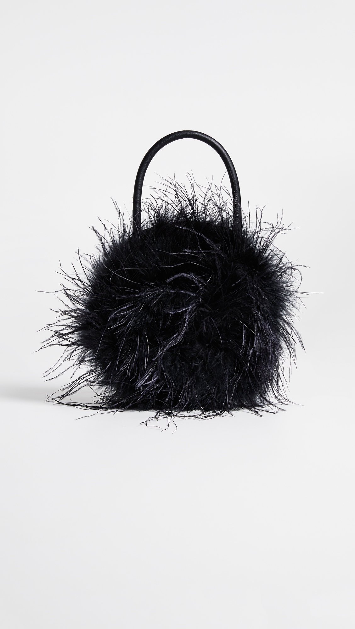 Black Round Feather Bag