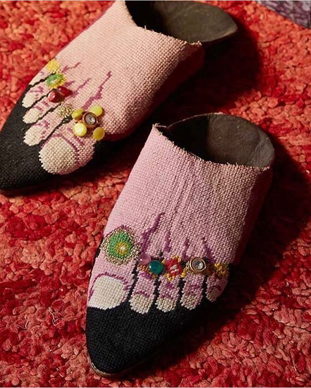 Needlepoint Babouche Slippers Christopher Gibbs