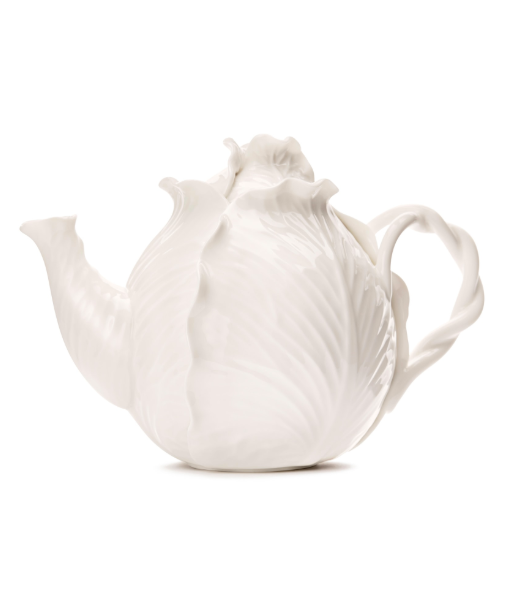 White Cabbageware Teapot Dodie Thayer for Tory Burch