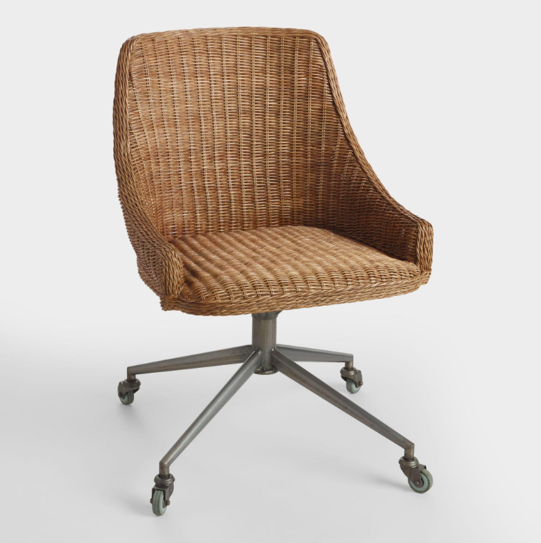Wicker Office Chair