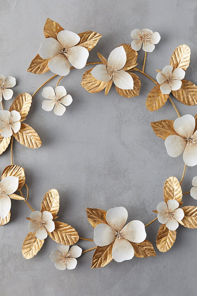 The Daily Hunt: Gold Floral Wreath and more!