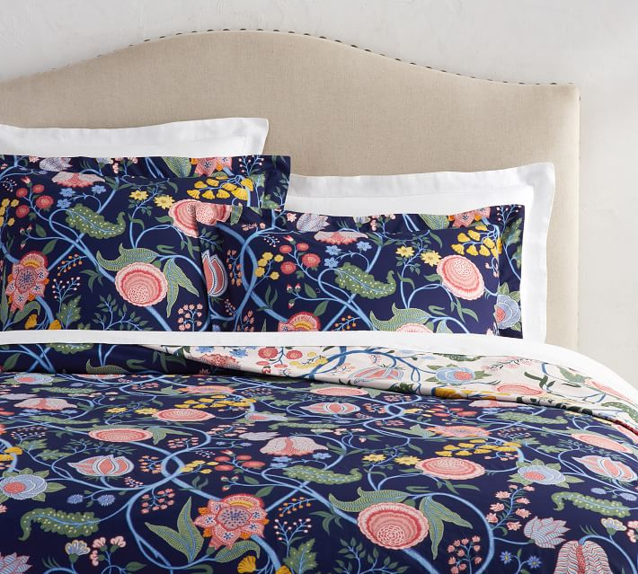 Reversible Floral Bedding Inspired by Josef Frank