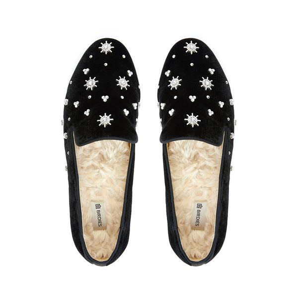 Birdies Starling Black Crystal Shoes